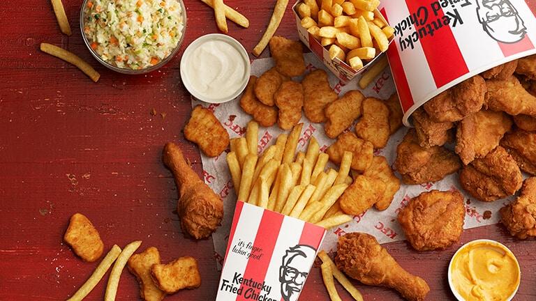 KFC menu student deals